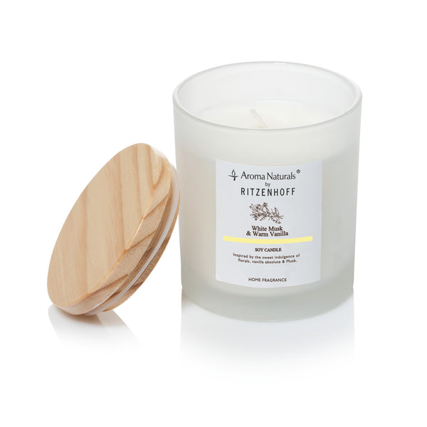AROMA NATURALS | Nature | Scented Candle | White Musk | 80mm