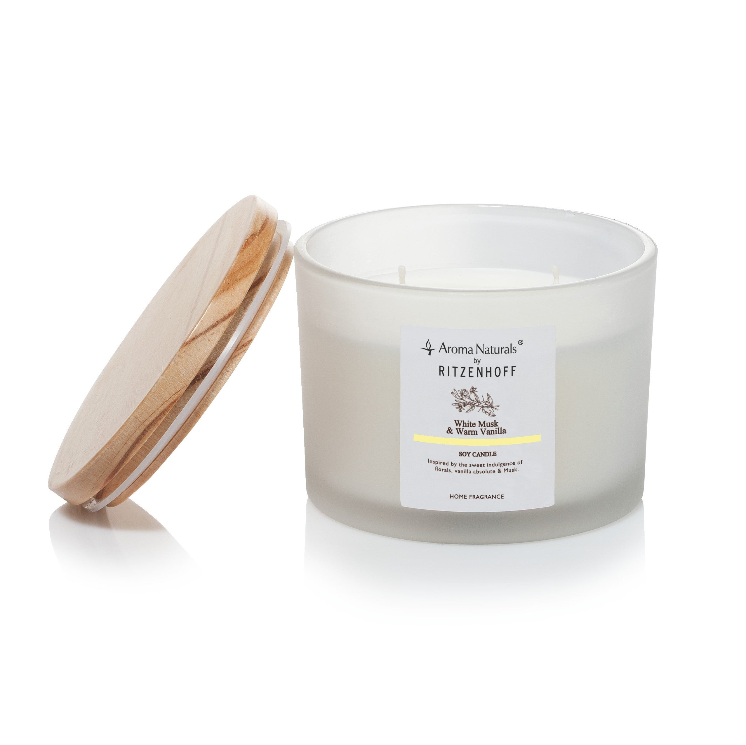 AROMA NATURALS | Nature | Scented Candle | White Musk | 110mm