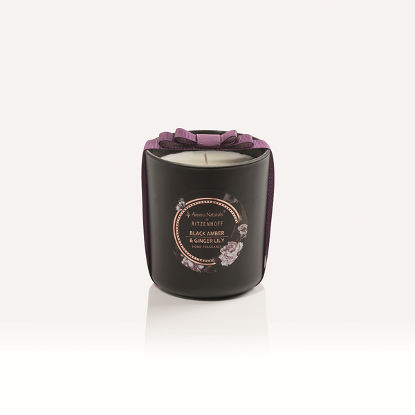 AROMA NATURALS | Noir | Scented Candle | Black Amber & Ginger Lily | 88mm