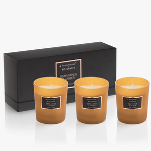 AROMA NATURALS | Selection | Scented Candle | Osmanthus & Amber | Set of 3