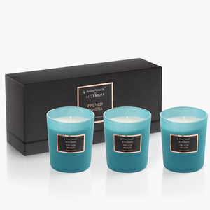 AROMA NATURALS | Selection | Scented Candle | French Riviera | Set of 3