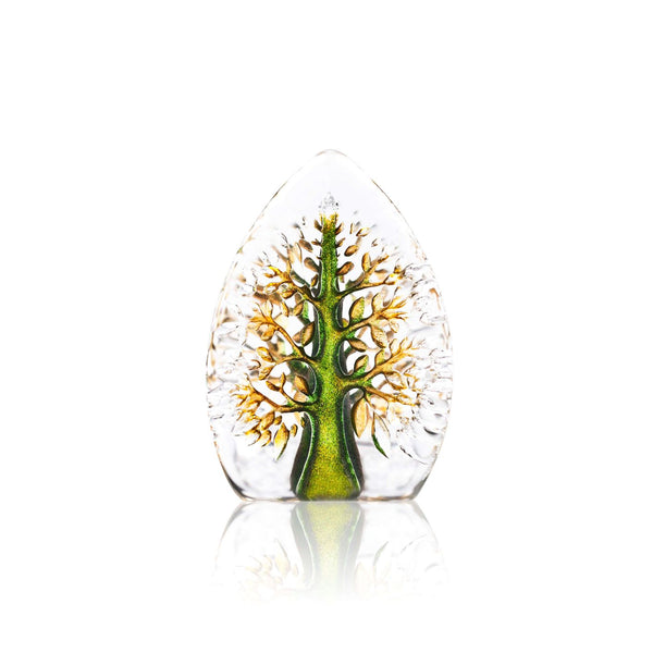 MÅLERÅS | Nordic Icons | Tree of Life Miniature Yggdrasil | Green & Yellow