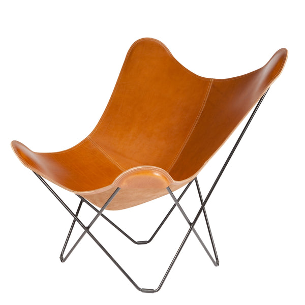 CUERO DESIGN | Pampa Mariposa Butterfly Chair | Polo Tan Leather
