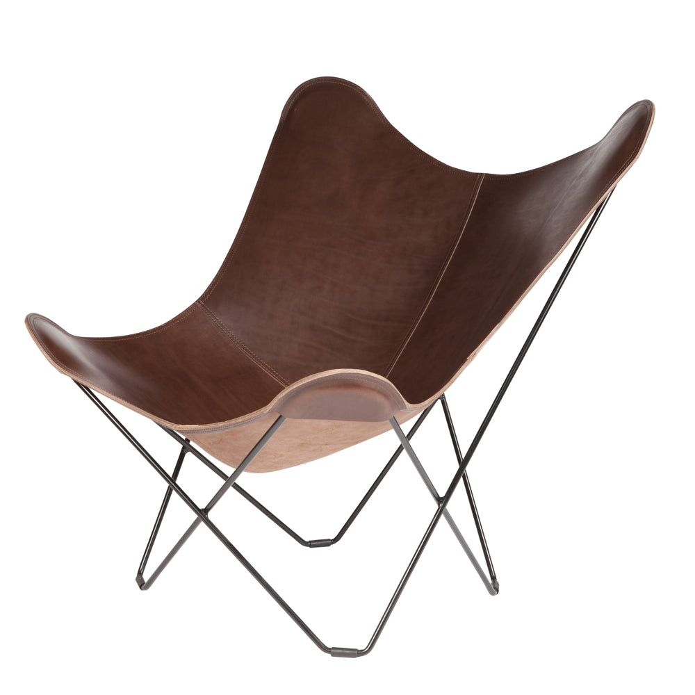 CUERO DESIGN | Pampa Mariposa Butterfly Chair | Chocolate Leather