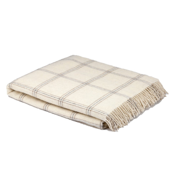 McNUTT OF DONEGAL | Alpaca Throw | White Pearl Window