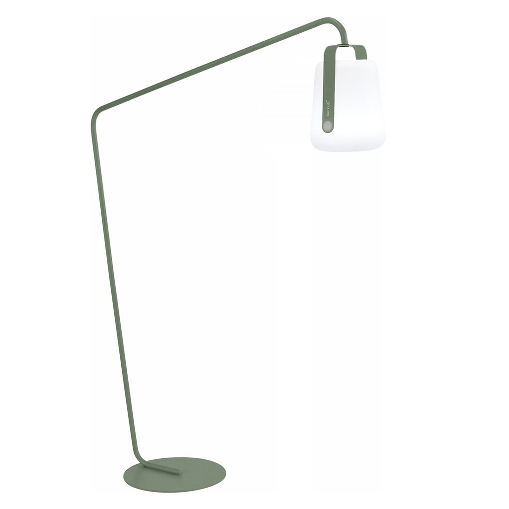 Balad Offset Stand by Fermob in Cactus with Fermob Lamp attached to the stand.
