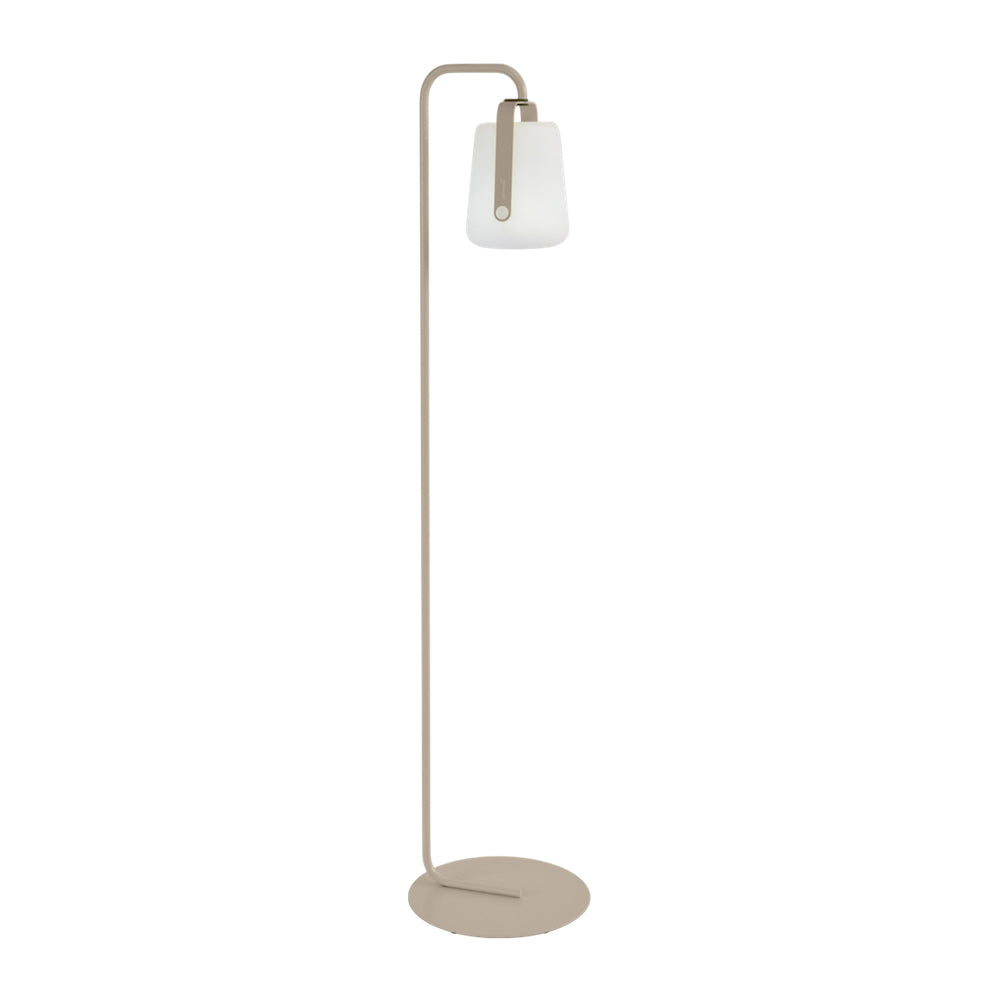 Balad Upright Stand by Fermob in Nutmeg with Fermob Lamp attached to the stand.