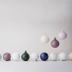 LYNGBY PORCELÆN | Rhombe | Bauble | White