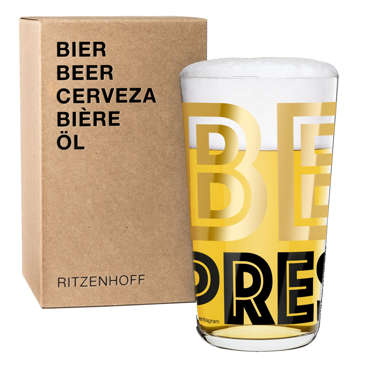 RITZENHOFF | The Next 25 Years | Beer Glass | Justus Oehler/Pentagram
