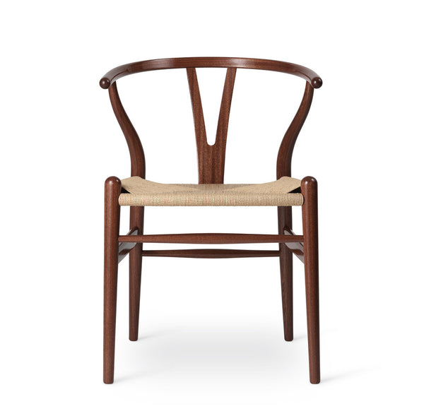 Carl Hansen and Son CH24 Birthday Edition for Hans J Wegner, in Mahogany, finished with a high gloss lacquer.