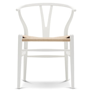 CARL HANSEN & SØN | CH24 Wishbone Chair | Hans J. Wegner | Beech frame | White | Natural seat | Quick Ship - Available in 3 weeks