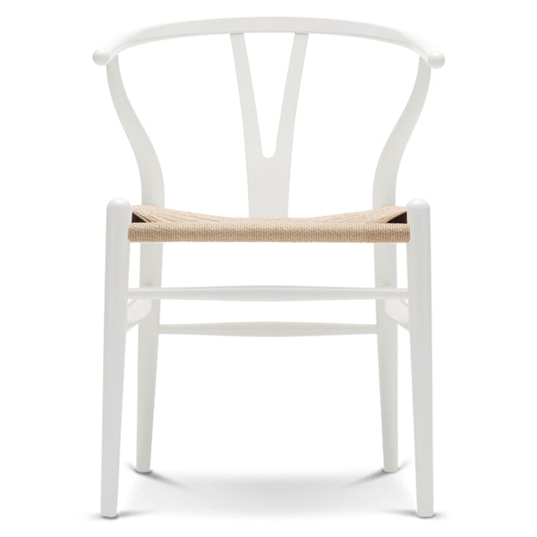 CARL HANSEN & SØN | CH24 Wishbone Chair | Hans J. Wegner | Beech frame | White | Natural seat | Quick Ship - Available in 3 to 4 weeks