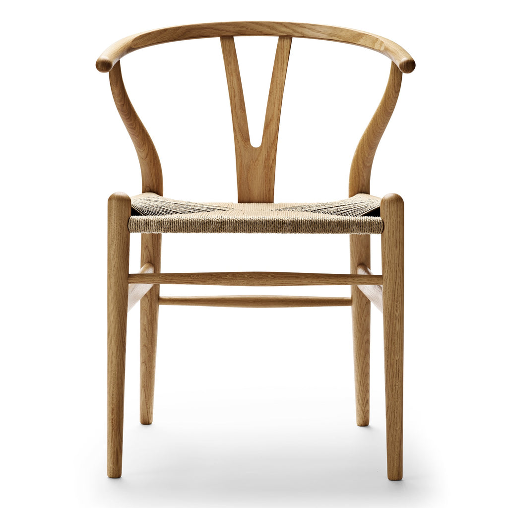 CARL HANSEN & SØN | CH24 Wishbone Chair | Hans J. Wegner | Oak frame | Oil finish | Natural seat | Quick Ship - Available in 3 to 4 weeks