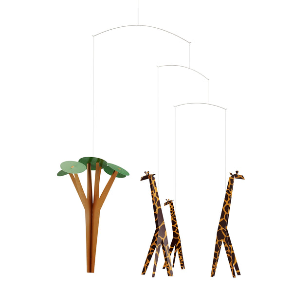 FLENSTED MOBILES | Giraffes on the Savannah  | 60x50cm