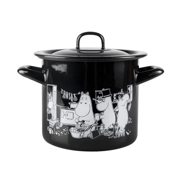 MUURLA | Moomin in the Kitchen | Enamel Pot with Lid | 1.5l