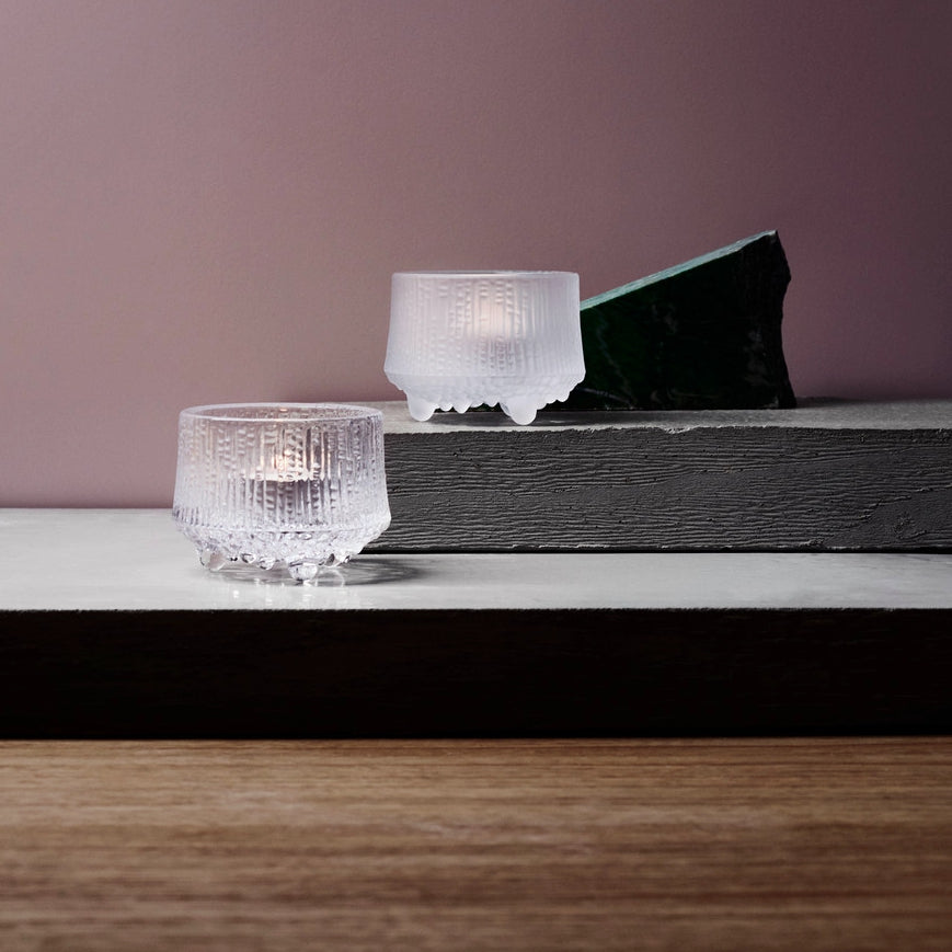 IITTALA | Ultima Thule | Tealight Candleholder | Clear Glass | 65mm