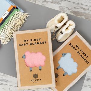 McNUTT OF DONEGAL | Lambswool Baby Blanket & Box | Little Jack Horner