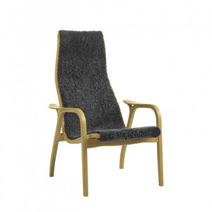 SWEDESE | Lamino Chair Only | Oak Oiled frame | Charcoal Sheepskin Upholstery