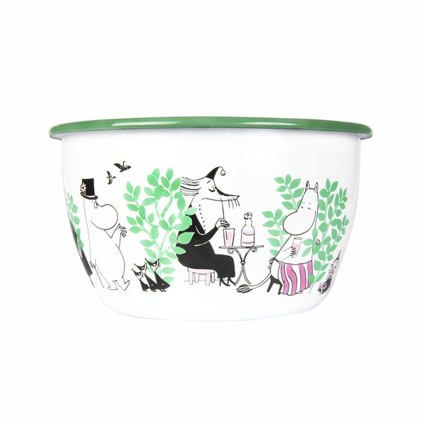 MUURLA | Moomin | Day in the Garden | Enamel Serving Bowl | 2 L