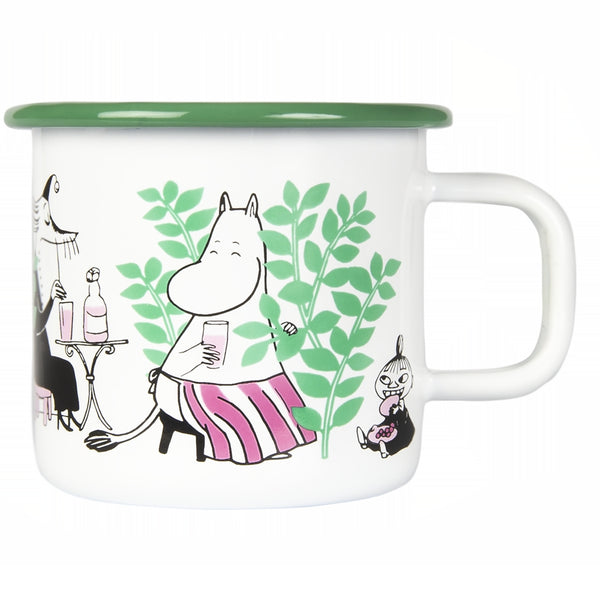 MUURLA | Moomin | Day in the Garden | Enamel Mug | 3.7dl
