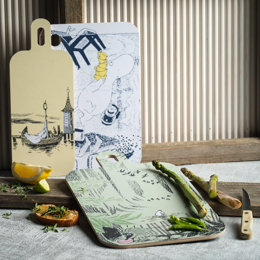 MUURLA | Moomin Originals | Chop & Serve Board | Lighthouse Island | 18 x 44cm