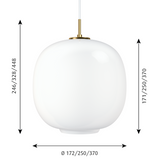 LOUIS POULSEN | VL45 Radiohus Pendant | Vilhelm Lauritzen | 2 sizes available