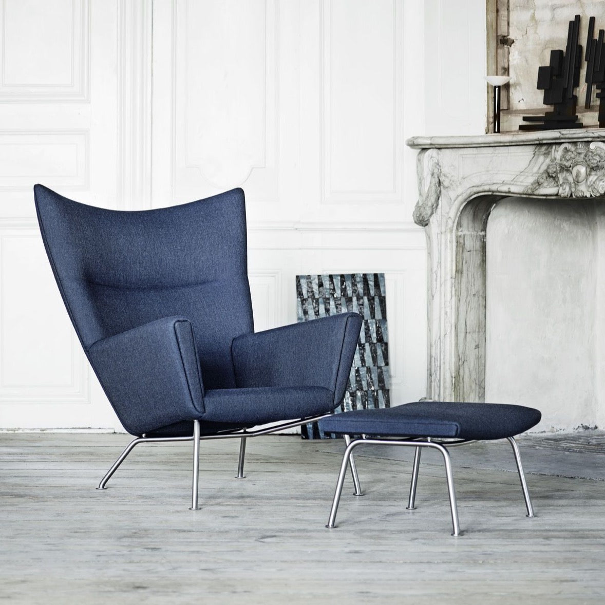 CARL HANSEN & SØN | CH445 | Wing Chair | Designed 1960 | Hans J. Wegner | Available in 3* to 10 Weeks depending on upholstery chosen.