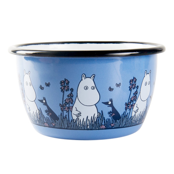 MUURLA | Moomin | Friends | Enamel Bowl | Blue | 3dl