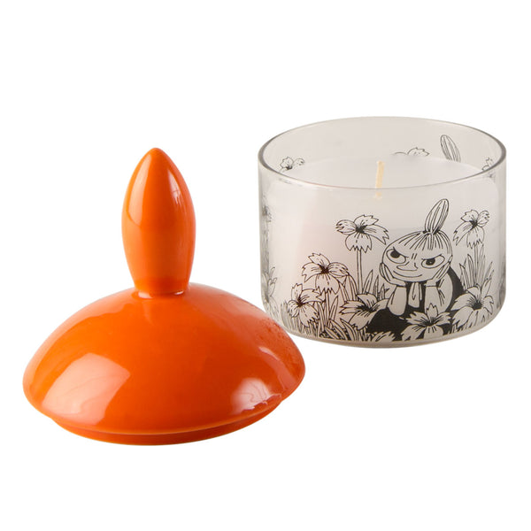 MUURLA | Moomin | Candle (in glass with porcelain extinguisher lid) | Little My