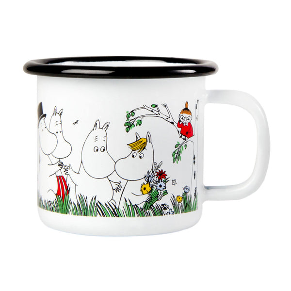 MUURLA | Moomin | Colors | Enamel Mug | Happy Family | 1.5dl