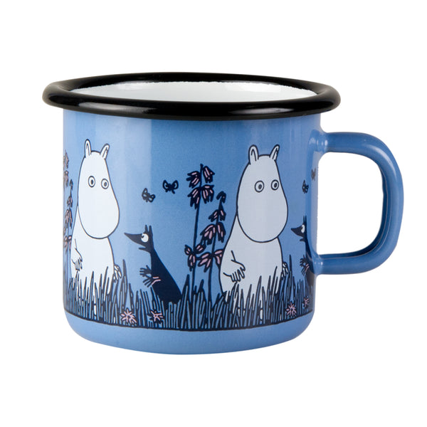 MUURLA | Moomin | Friends | Enamel Mug | Blue | 2.5dl