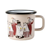 MUURLA | Moomin | Friends | Enamel Mug | Red | Mamma, Pappa & Fillyjonk | 3.7dl