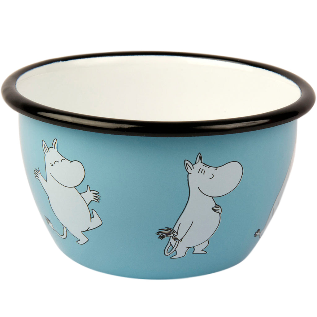 MUURLA | Moomin | Retro | Enamel Bowl | Blue | 6dl