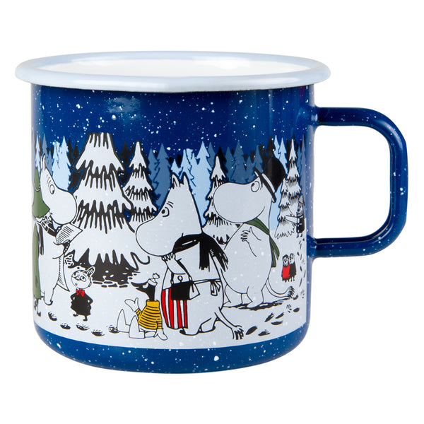 MUURLA | Moomin | Winter | Enamel Mug | Winter Forest | 8dl