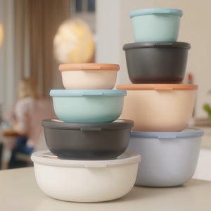 MEPAL | Multi Bowl Cirqula Set | 4 Pcs | 350ml/ 750ml/1250ml/2250ml | Nordic Blush