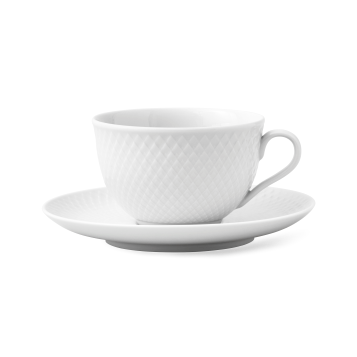 LYNGBY PORCELÆN | Rhombe | Cup with Saucer