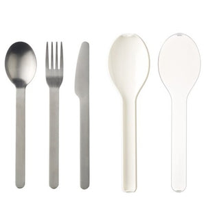 MEPAL | Ellipse 3-piece Cutlery Set | White