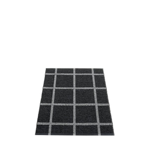 *NEW* PAPPELINA | Plastic Rug | Ada | Black and Granit Metallic | 6 sizes (Available from October)