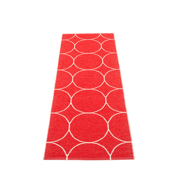 PAPPELINA | Plastic Rug | Boo | Red/Vanilla | 4 sizes