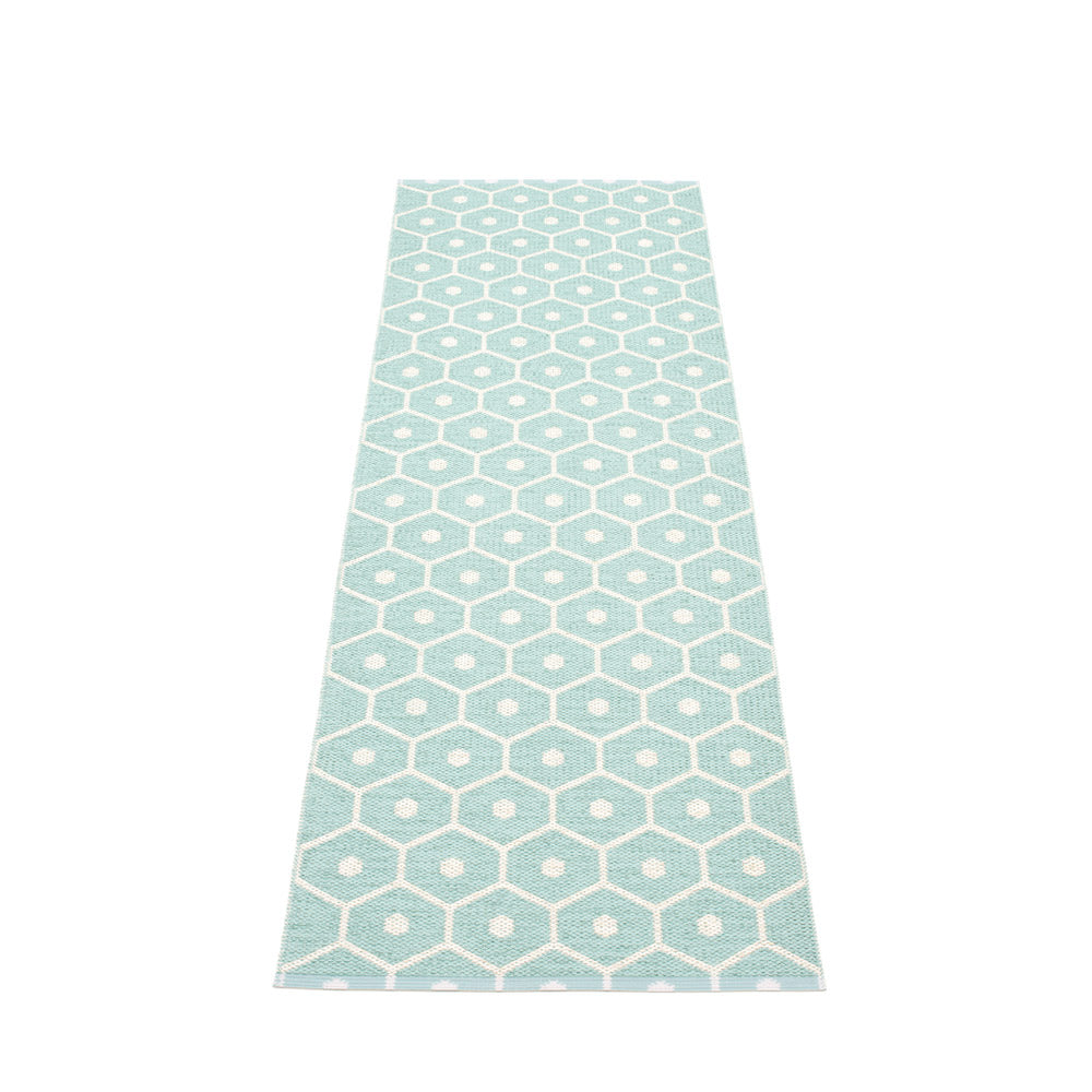 PAPPELINA | Plastic Rug | Honey | Pale Turquoise | 6 sizes