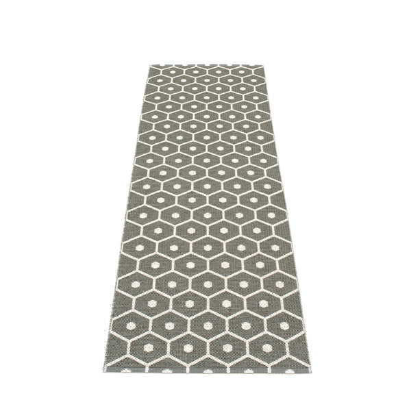 PAPPELINA | Plastic Rug | Honey | Charcoal | 6 sizes - 2 week delivery
