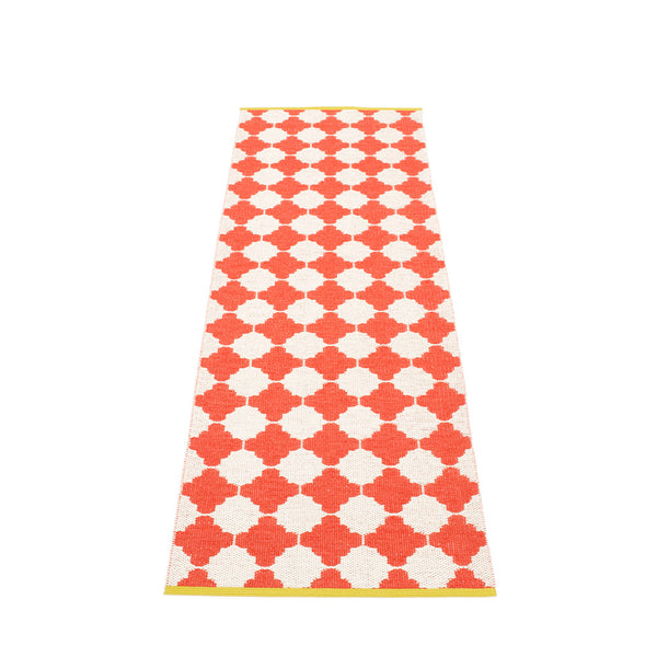 PAPPELINA | Plastic Rug | Marre | Coral Red | 5 sizes - 2 week delivery