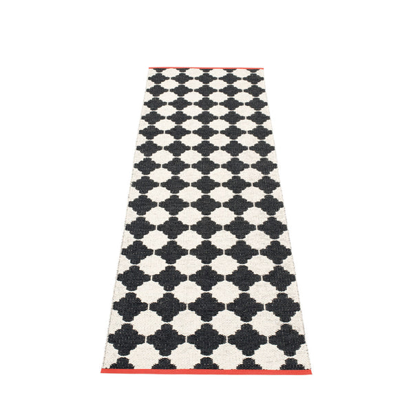 PAPPELINA | Plastic Rug | Marre | Black | 5 sizes - 2 week delivery