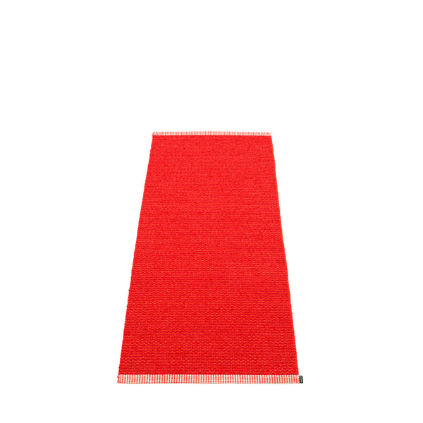 PAPPELINA | Plastic Rug | Mono | Red | 8 sizes - 2 week delivery