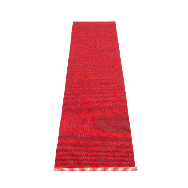 PAPPELINA | Plastic Rug | Mono | Dark Red | 8 sizes