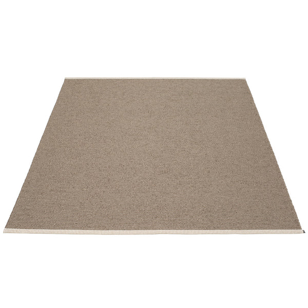 PAPPELINA | Plastic Rug | Mono | Dark Mud | 8 sizes