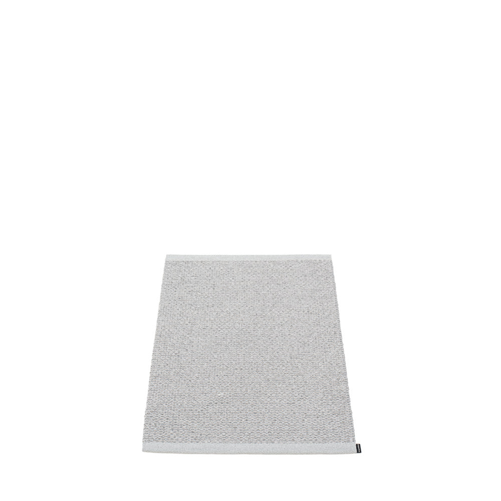 PAPPELINA | Plastic Rug | Svea | Grey Metallic | 11 sizes