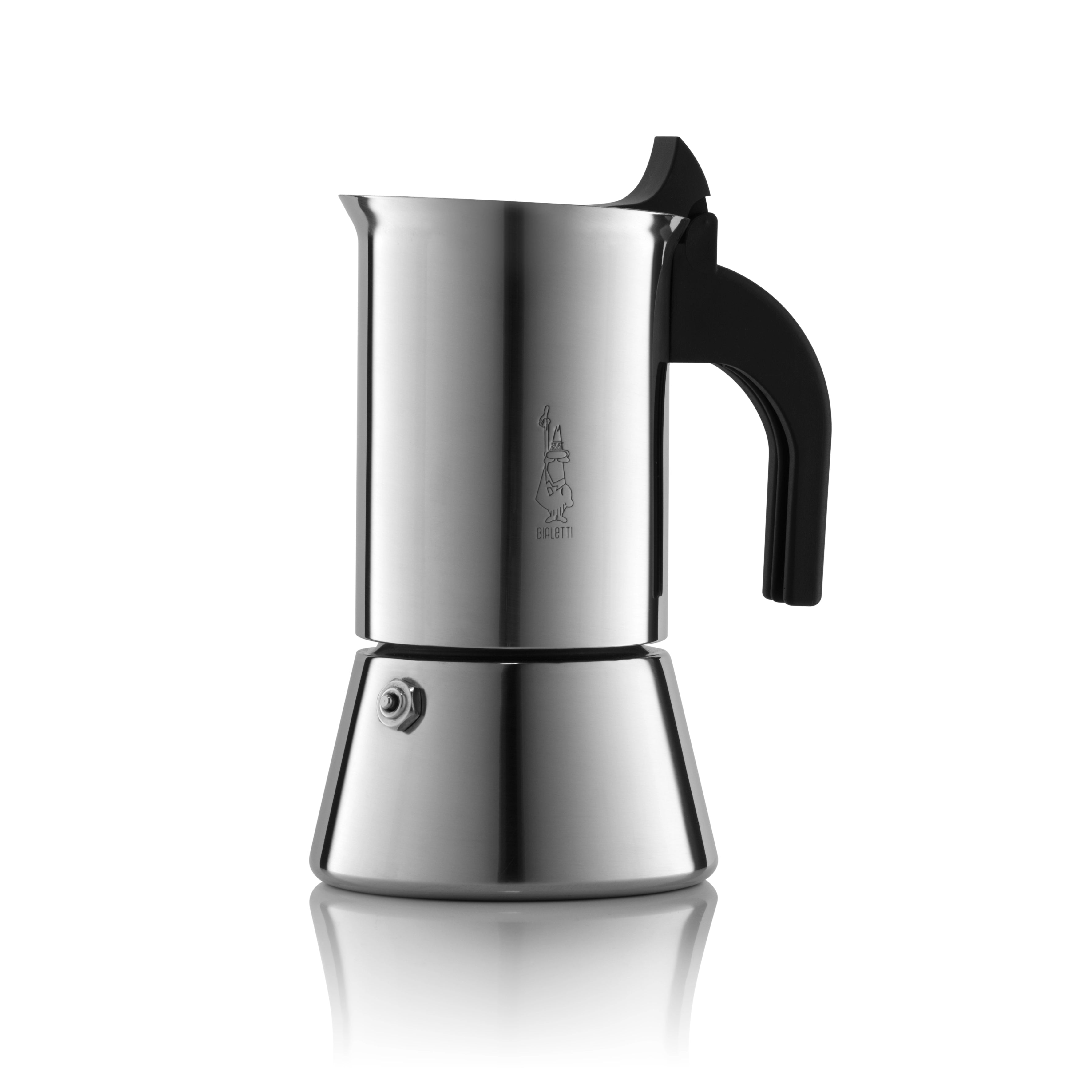 BIALETTI | Venus Induction | Stainless Steel | Stovetop Coffee Maker | 6 Cup