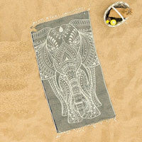 Black Elephant Beach Towel