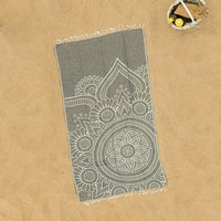 Montana (Black Mandala) Beach Towel